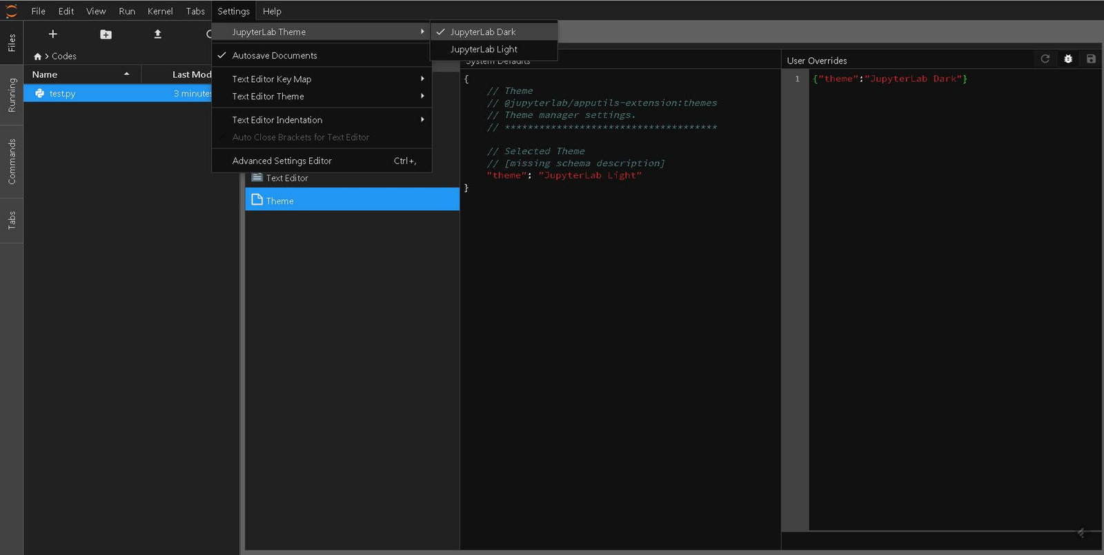 Jupyterlab_darktheme